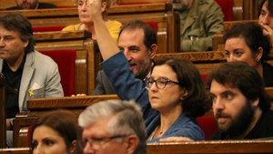 Eva Granados, portavoz del PSC en el Parlament, en una de lasvotaciones de esta semana.