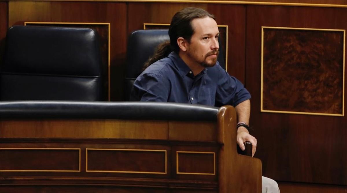 Pablo Iglesias, el pasado jueves en el Congreso de los Diputados.