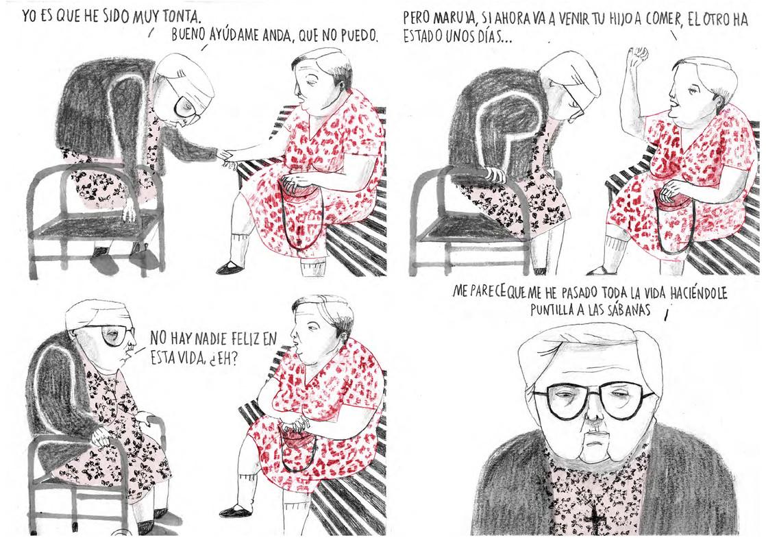 Página de 'Estamos todas bien', de Ana Penyas, obra ganadora del premio Fnac-Salamandra Graphic.