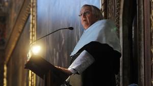 Paul Preston, durante el acto en el que ha sido investido Doctor Honoris Causa por la Universitat de Barcelona.