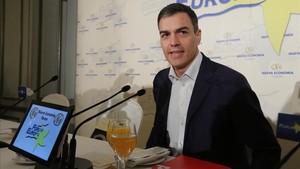 Pedro Sánchez interviene en los desayunos Fórum Europa.