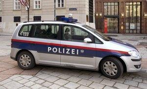 Una unidad de la policía austriaca, en Viena.