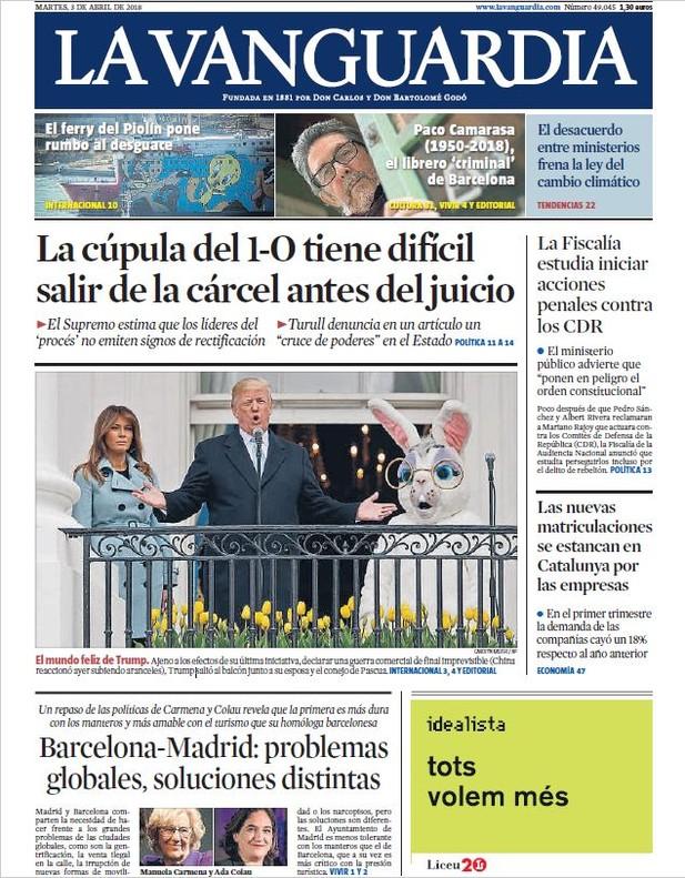 Puigdemont pasa el muerto del 'procés' a los manifestantes, interpreta 'El Mundo'