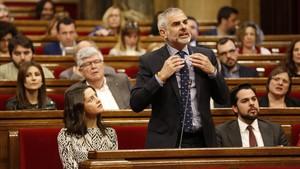 El portavoz de Ciutadans, Carlos Carrizosa, junto a su líder en Catalunya, Inés Arrimadas.