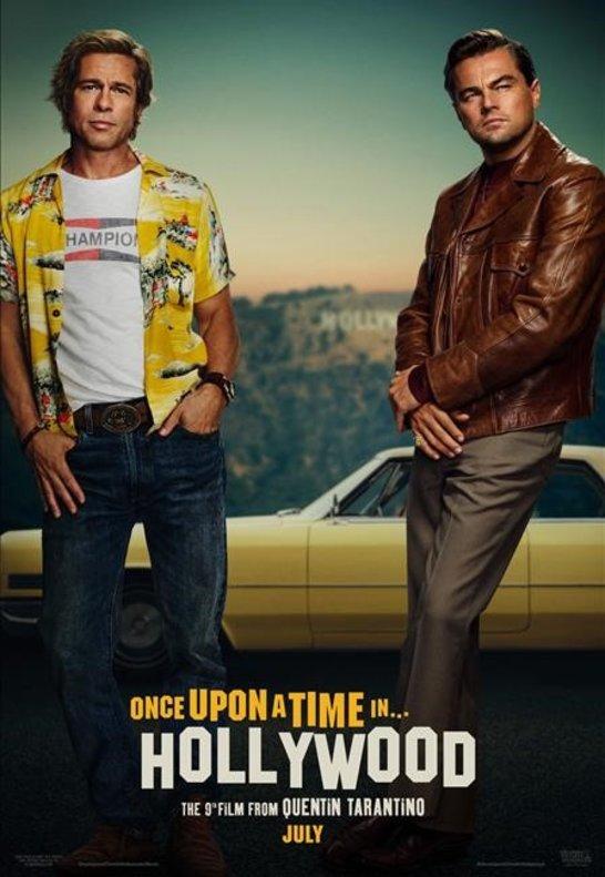 Primer poster oficial de 'Érase una vez en Hollywood', con Brad Pitt y Leonardo DiCaprio.