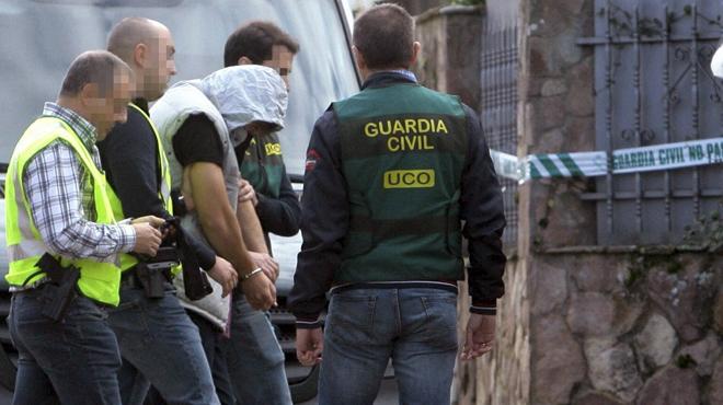 El presunto asesino de Guadalajara, en la reconstruccion de los hechos