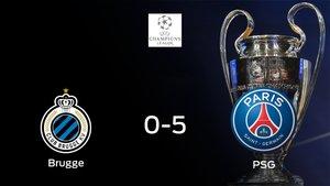 El PSG logra una goleada en el estadio del Club Brugge (0-5)
