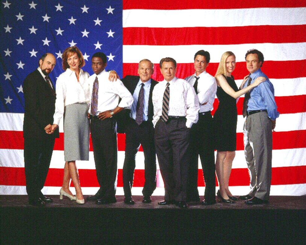 El reparto de 'El ala oeste de la Casa Blanca'.