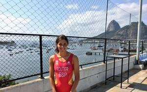 Carol Routier, en una imagen de su cuenta personal de Twitter en los Juegos de Río.