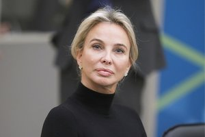 ST PETERSBURG, RUSSIA - NOVEMBER 17, 2017: German Princess, philanthropist Corinna zu Sayn-Wittgenstein at a meeting of the Mariinsky Theatre's Board of Trustees in the new stage building of the Mariinsky Theatre. Mikhail Metzel/TASS (Photo by Mikhail MetzelTASS via Getty Images)