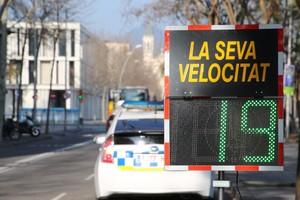 La Policia Local de Sant Boi utilitza un 'radar pedagògic', per lluitar contra l'accidentalitat