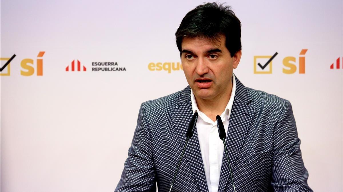 El portavor de ERC,Sergi Sabrià.