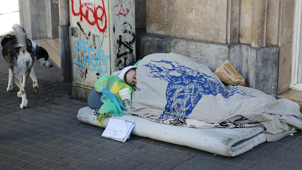 Un sin techo, la semana pasada en Barcelona.