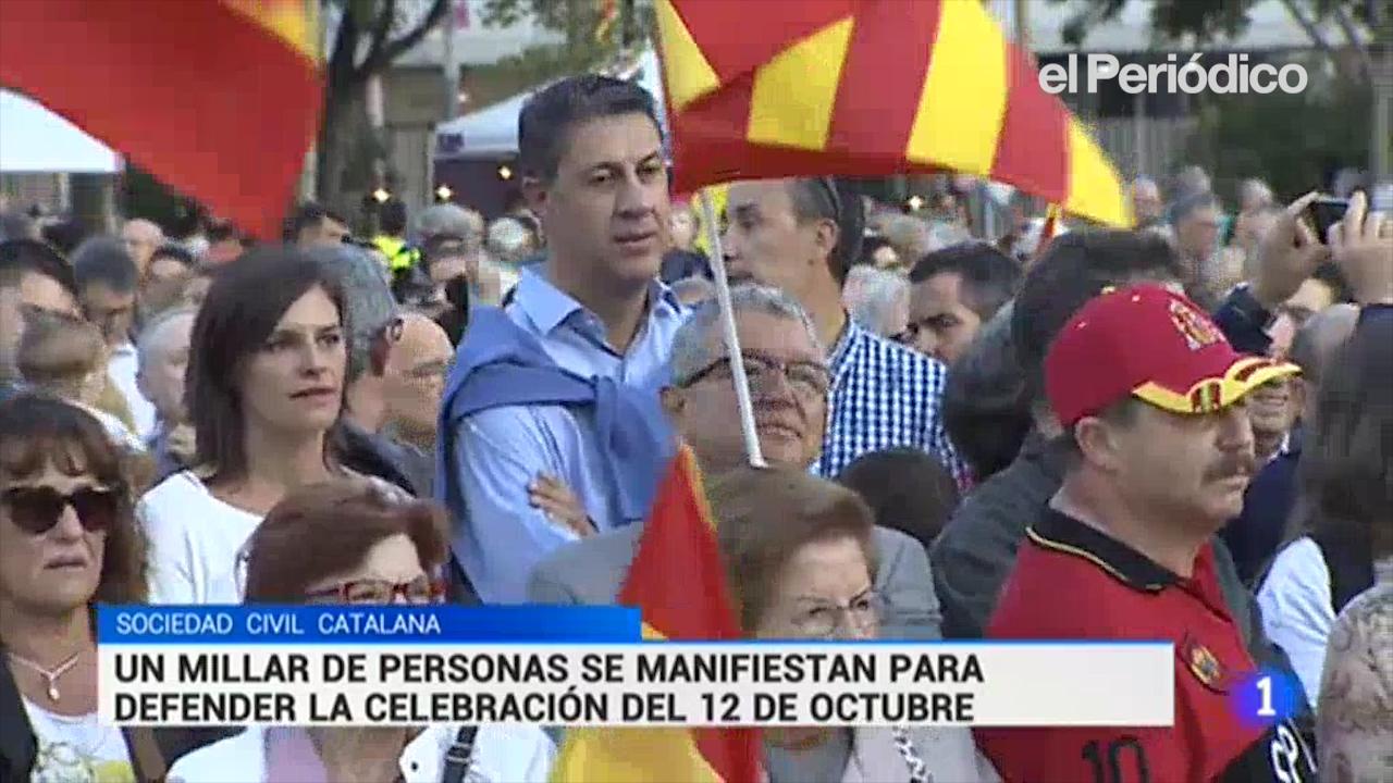 Relliscada de TVE amb els manifestants de Societat Civil Catalana