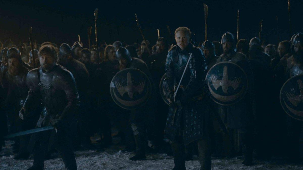 Imagen de la gran batalla que centra el contenido del tercer episodio de la última temporada de Juego de tronos.