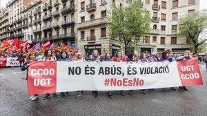 Una manifestación feminista de Barcelona.