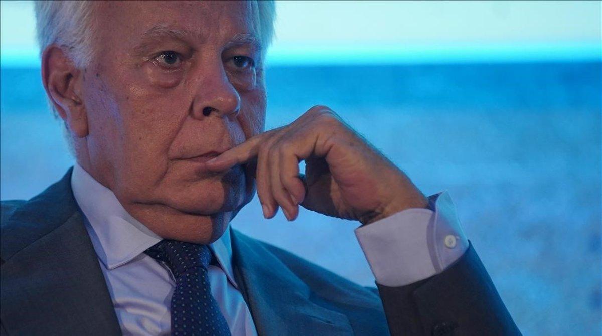 El expresidente del Gobierno, Felipe González, en una foto de archivo de 2018