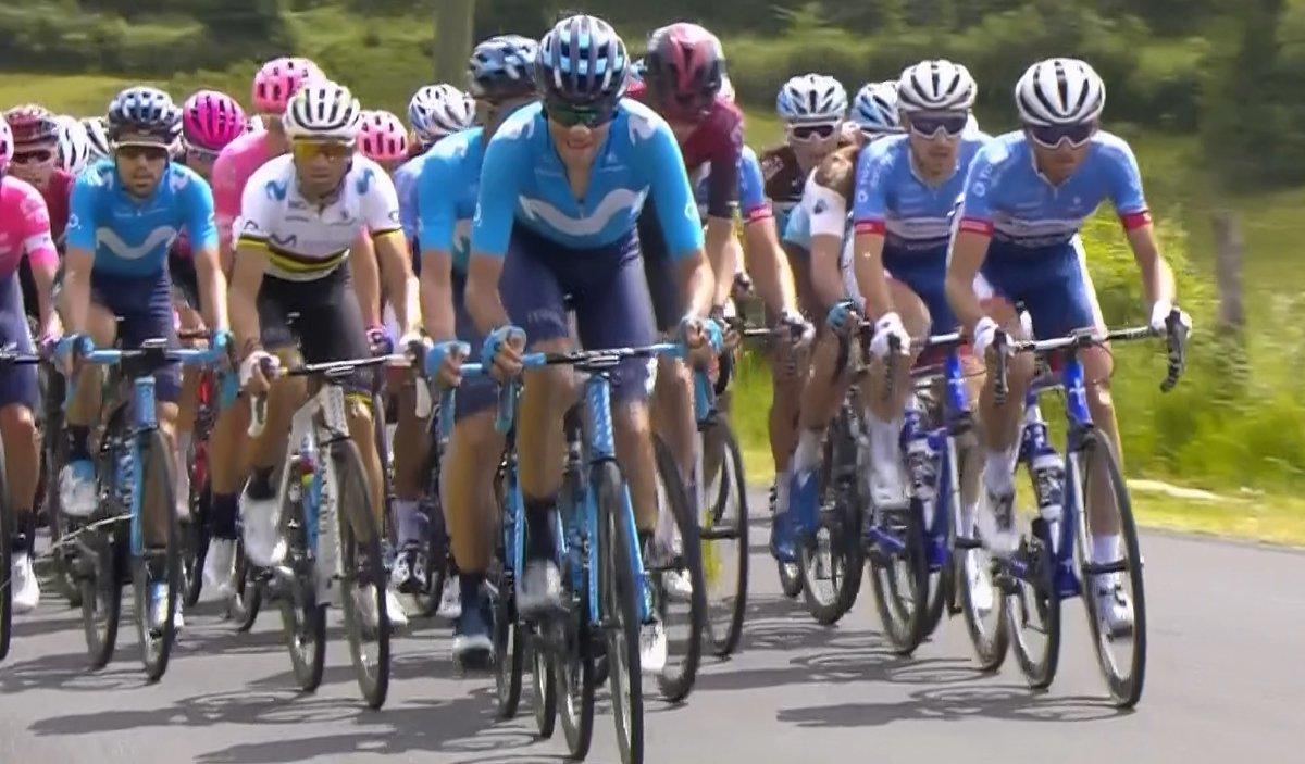 Alejandro Valverde, durante la primera etapa de la Ruta de Occitania.
