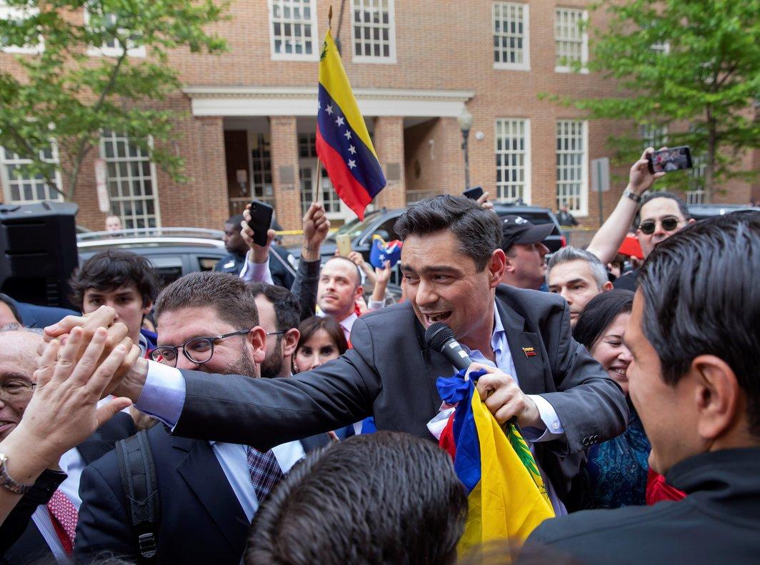 Carlos Vecchio, el representante en los EEUUde Juan Guaido. EFE