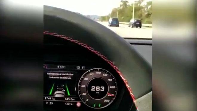 Vídeo de los Mossos de un conductor que se grabado a exceso de velocidad.