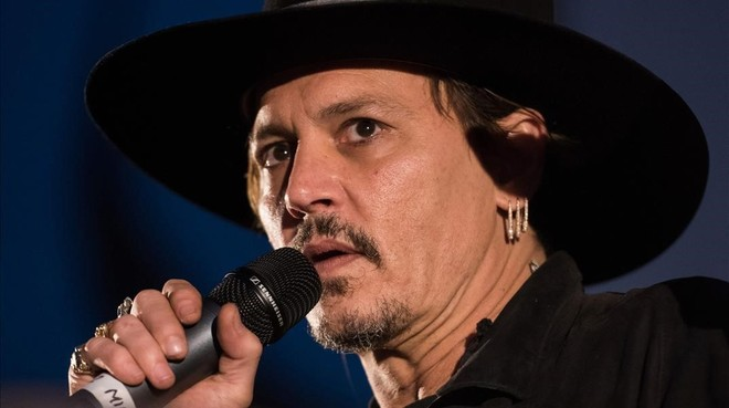 Johnny Depp, durante el Glastonbury Festival, en junio del 2017.