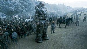 Imagen de la espectacular 'batalla de los bastardos' de 'Juego de tronos'.