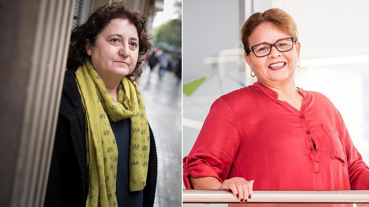 Carmen Ortiz (izquierda) y Fanny Guzmán (derecha) han pasado por un cáncer de mama.