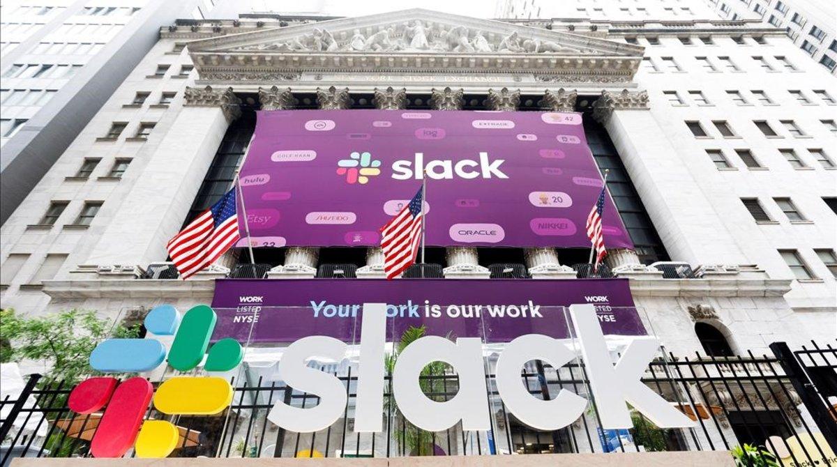 Slack debuta en borsa amb una pujada del 50%
