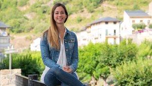 Carla Roset, fundadora de la empresa gestora de alojamientos turísticos en el Pallars y el Vall d'Aran, CRHabitatges, en Sort.