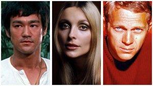 Bruce Lee, Sharon Tate y Steve McQueen.