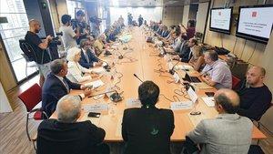 Reunión para exponer el plan de choque 'Barcelona Ciutat Segura'.