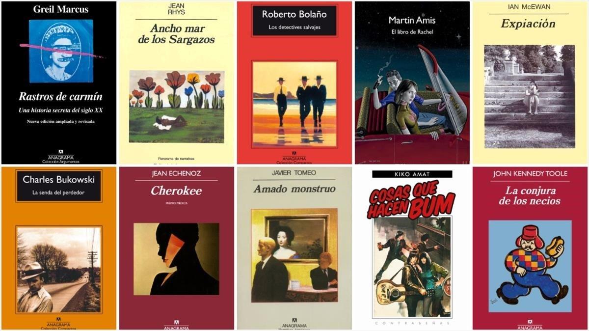Deu autors de la competència trien el seu llibre d'Anagrama favorit