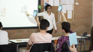 El programa de formación financiera se realiza en una escuela de Barcelona.