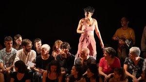 Una representación de 'Así bailan las putas', en el Espai Brossa.