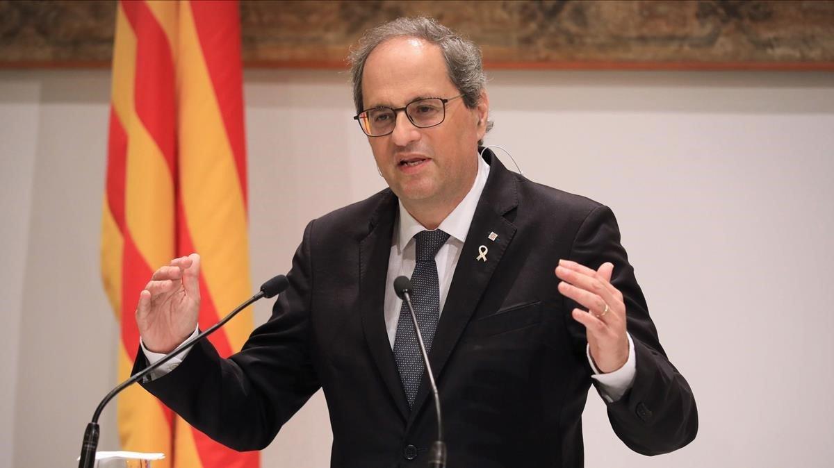 Torra demanarà a Sánchez 15.000 milions per afrontar la crisi econòmica