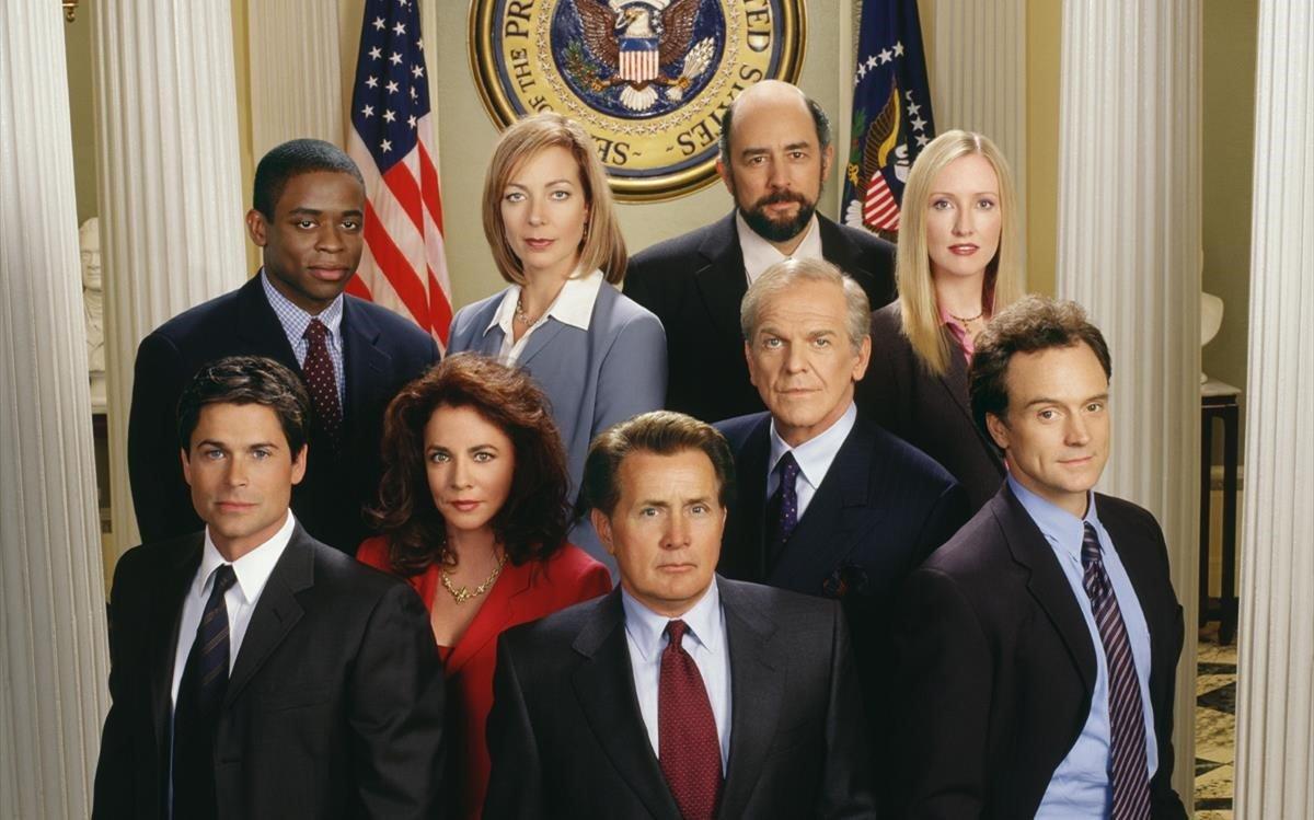 El elenco artístico de la serie 'El ala oeste de la Casa Blanca'.