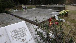 Zona para musulmanes habilitada en el cementerio de Collserola.