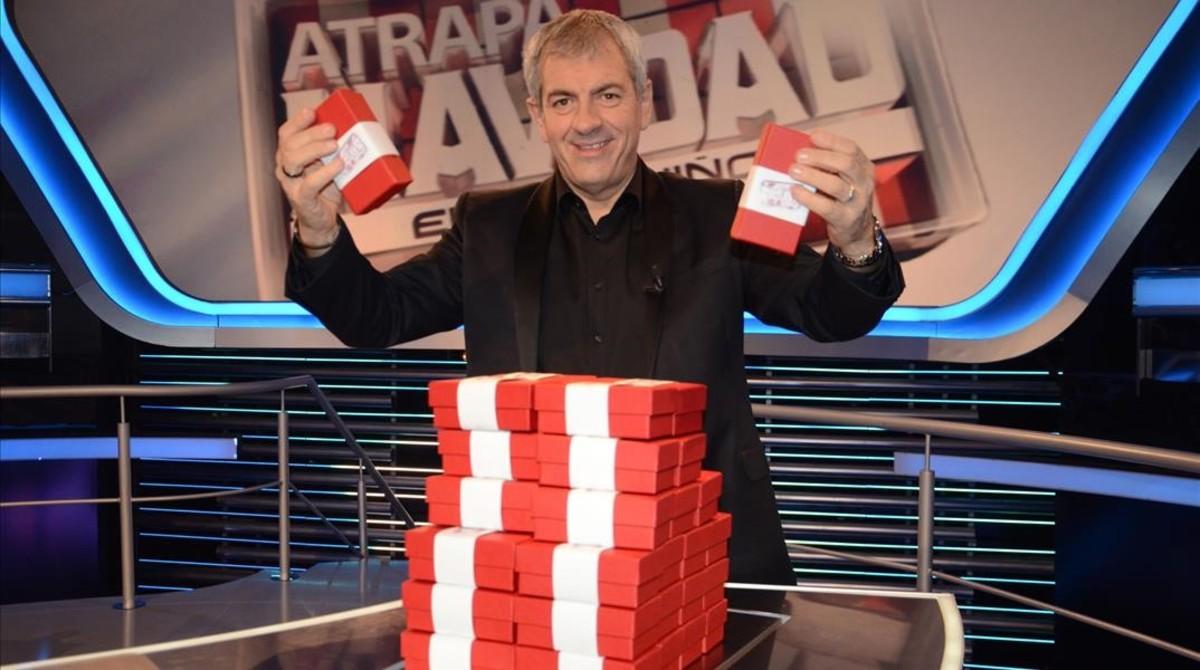 Carlos Sobera, en 'Atrapa un millón' de Antena 3