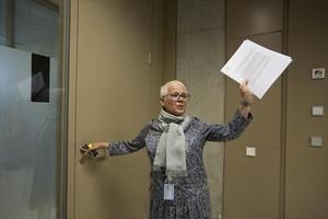 Anna Maria Magaldi, fiscala jefa de Barcelona, en un encuentro con periodistas en el 2014.