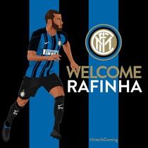 Una imagen promocional de Rafinha como nuevo jugador del Inter.