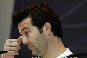 Santiago Solari, técnico del Madrid, en rueda de prensa.