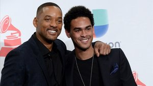 El actor Will Smith y su hijo Trey Smith en la gala de los Grammy, en Las Vegas.
