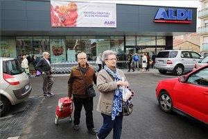 Imagen de archivo de una tienda de la cadena Aldi.