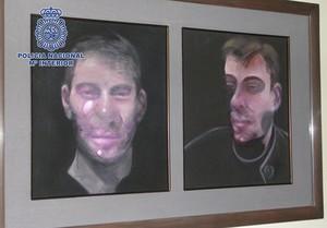 Fotografía facilitada por la policíade uno de los cuadros de Bacon sustraídos el año pasado en un domicilio de Madrid.