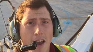 El 'aviador' suicida Richard B. Russell.