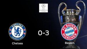 El Bayern München golea 0-3 al Chelsea y da un gran paso hacia los cuartos de final de la Champions League