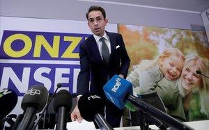 Belang ofrece una rueda de prensa tras los resultados electorales en Bruselas.