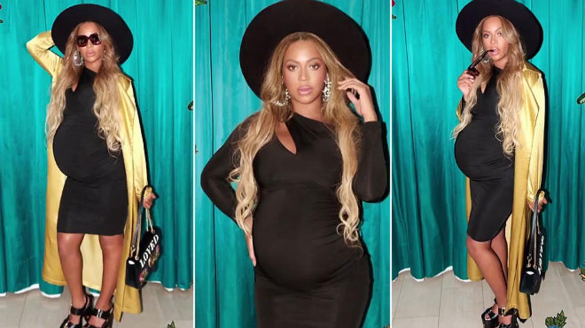 Beyoncé, con el último modelo premamá que ha lucido en Instagram.