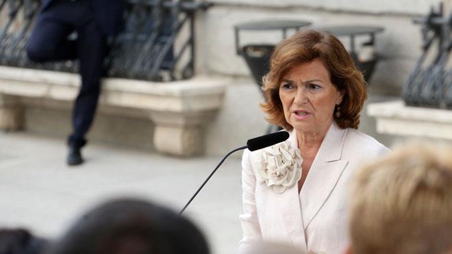 Calvo da a entender que aceptan a Montero como vicepresidenta.