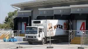 Camión donde fueron hallados los 71 refugiados muertos en agosto del 2015.
